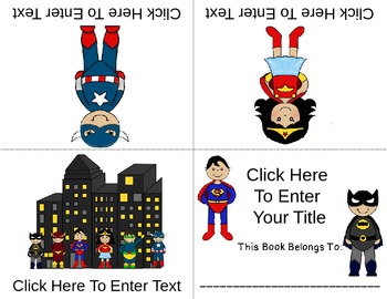 'SUPER' Fun Foldable Editable Emergent Reader  ~Color & B&W~  CC Aligned