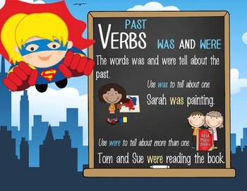 SUPER HERO - 1st grade GRAMMAR posters / Scott Foresman Reading