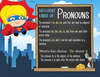 SUPER HERO - 2nd grade GRAMMAR posters / Scott Foresman Reading