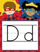 SUPER HERO - Alphabet Banner, handwriting, A to Z, ABC print font