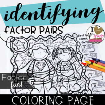 FACTOR PAIRS COLORING PAGE