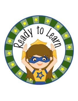 SUPER HERO - Classroom Decor: Behavior Clip Chart editable MS Word