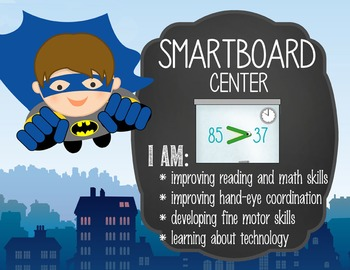 SUPER HERO - Classroom Decor: Center Signs, student cards