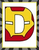 SUPER HERO - Classroom Decor: IRON MAN Banner LETTERS