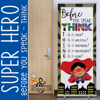 SUPER HERO - Classroom Decor: LARGE BANNER, Before You Spe