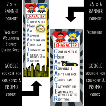 SUPER HERO - Classroom Decor: LARGE BANNER, CHARACTER