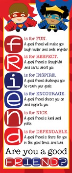 SUPER HERO - Classroom Decor: LARGE BANNER, FRIENDS