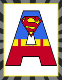 SUPER HERO - Classroom Decor: Superhero Banner LETTERS - BUNDLE -