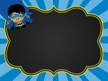 SUPER HERO - Classroom Decor:editable chalkboard  POSTERS/Bistro Chalk Markers 2