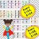 SUPER HERO Labels Bundle (Editable 5160, 5162, 5163, 5164, 5168)