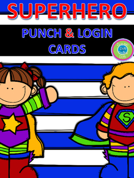 SUPER HERO PUNCH & LOG IN CARDS~ Color & BW