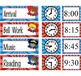 SUPER HERO - Schedule Cards, EDITABLE