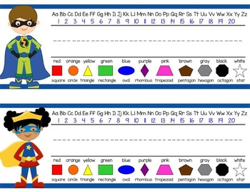 SUPER HERO - Student desk nameplates, you personalize