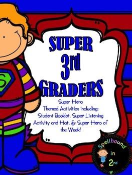 SUPER HERO THIRD GRADER ACTIVITY PACK