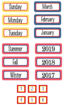 SUPER HERO Theme Classroom Decor - Calendar Set