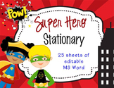 SUPER HERO Theme - stationery MS Word, PowerPoint, JPEGs