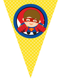 SUPER HERO theme - Classroom Decor - Triangle Banners, Create A Banner