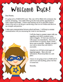 SUPER HERO - Welcome Back / student activities/ classroom forms