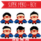 SUPER HERO boy - BUNDLE - CUTOUTS, bulletin board, classroom decor, craft