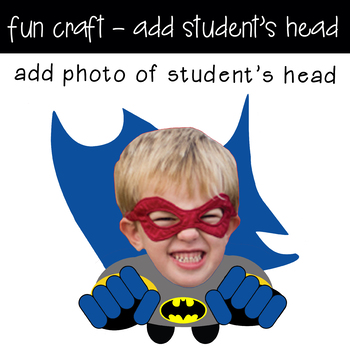 graphic about Superhero Cutouts Printable titled Tremendous HERO boy - CUTOUTS, bulletin board, clroom decor, printable, craft