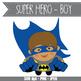 SUPER HERO boy - CUTOUTS, bulletin board, classroom decor, printable, craft