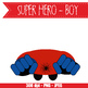SUPER HERO boy - CUTOUTS, bulletin board, classroom decor, printable, craft