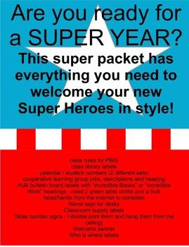 SUPER HERO / SUPERHERO theme classroom decorations