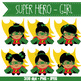 SUPER HERO girl - BUNDLE - CUTOUTS, bulletin board, classroom decor, craft