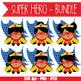 SUPER HERO girl - BUNDLE - CUTOUTS, bulletin board, classroom decor, craft