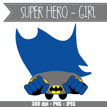 SUPER HERO girl - CUTOUTS, bulletin board, classroom decor, printable, craft