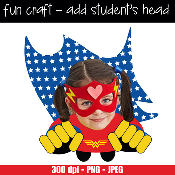 image about Superhero Cutouts Printable known as Tremendous HERO lady - CUTOUTS, bulletin board, clroom decor, printable, craft