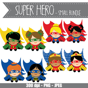 SUPER HERO girl - small BUNDLE - CUTOUTS, bulletin board, classroom decor, craft