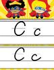 SUPER HERO theme - Alphabet Cards, Handwriting, D'Nealian manuscript, Cursive
