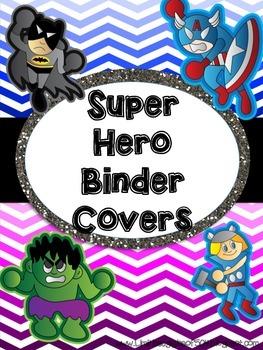 SUPER HERO themed Binder Covers