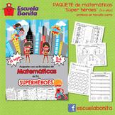 SÚPER HÉROES Actividades de matemáticas!!!! Superhero math