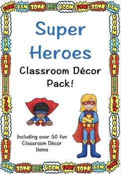 SUPER HEROES Classroom Decor Pack!