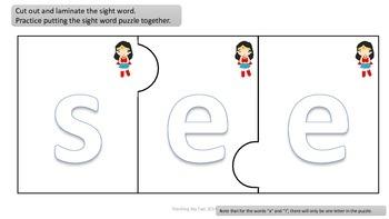 SUPER HEROES Pre-Primer Sight word READING UNIT 2
