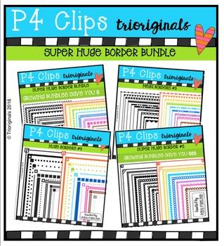 SUPER HUGE Border BUNDLE {P4 Clips Trioriginals}