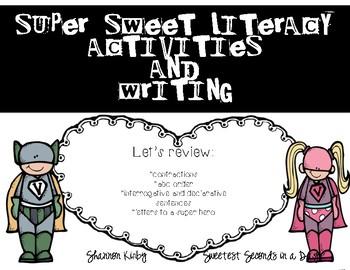 SUPER Hero Writing and Literacy Activities