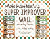 SUPER IMPROVER WALL — CAMPING THEME {Whole Brain Teaching}
