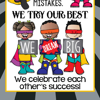 SUPER KIDS - Classroom Decor: LARGE BANNER, In Our Class