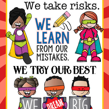 SUPER KIDS - Classroom Decor: LARGE BANNER, In Our School