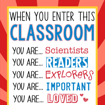 SUPER KIDS - Classroom Decor: LARGE BANNER, When You Enter This Classroom