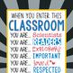 SUPER KIDS - Classroom Decor: SMALL BANNER, When You Enter This Classroom