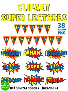 READING CLIPART | SUPER LECTORES CLIPART | SPANISH