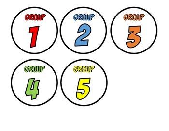 SUPER Math Group Rotation Board Template