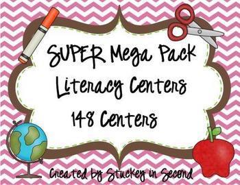SUPER Mega Pack of Literacy Centers BUNDLED (178 Centers!)
