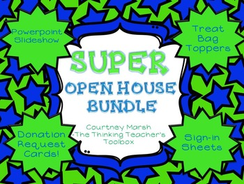 SUPER Open House Bundle - Slideshows, Donation Requests, Favor Toppers, Sign-In