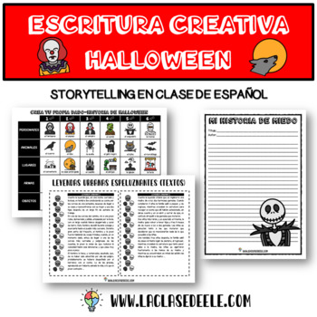SUPER PACK DE ESCRITURA CREATIVA PARA HALLOWEEN by SPANISH MIX AND MATCH