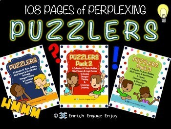 SUPER Puzzler Pack!  108 pages of student brain builders and puzzles!